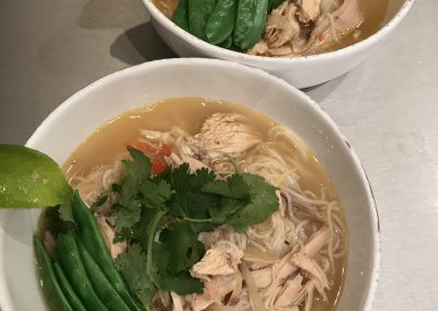 Chicken & noodle broth