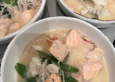 Nicky's Thai Fish Soup with Rice Noodles
