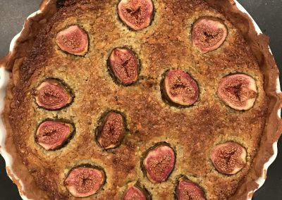 Pistachio & fig tart