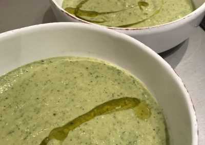 Courgette & mint soup
