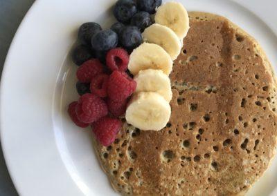 Spelt flour & chia seed pancakes