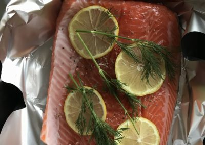 Baked sea trout