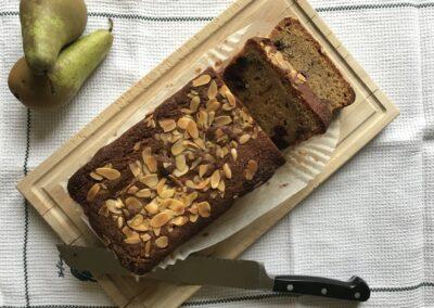 Pear & Blackberry loaf cake